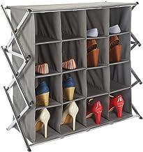 keine Montare Vista in TV Schuhschrank Slim f/ür 9 Paia von Schuhen und Stiefeln garantiert Vita neue Schuhschrank Silber