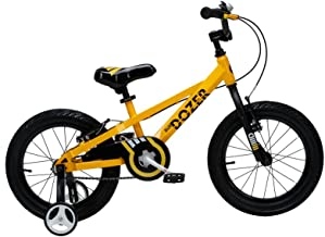 Royalbaby Bull Dozer Fat Tire Burly Kid's Bike, 16 or 18 inch Wheels, Black or Yellow