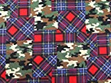 Camoflage Patchwork-Druck Baumwolle Kleiderstoff rot –