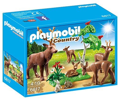 Playmobil Vida en el Bosque - Country Familia de Ciervos Playsets de Figuras de jugete, Color Multicolor (Playmobil 6817)