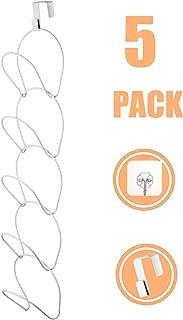 senbowe 5 Pack Door & Wall Hat Rack,Cap Rack,Hat Organizer,Baseball Cap Holder Organizer for Baseball, Caps, Apron, Kitchen,Towel,Scarf Closet (Door Hooks and Sticky Hooks Include)