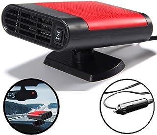 WANYIG Calefacci/ón para Coche 12v 150W Deshelador de Ventanas con Ventilador de Fr/ío//Calo para Coche Con 360 /° Ajustable y Cable 2M Rojo, con purificacion de aire
