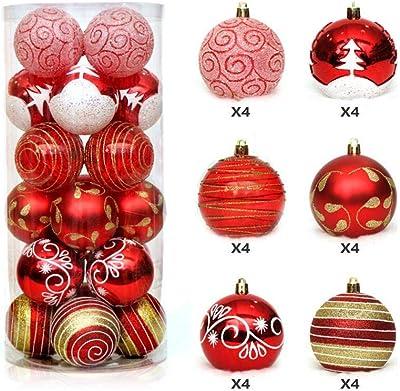 76923890d76 WESJEJA 24PCS Lot 6Cm Christmas Tree Decor Ball Baubles Xmas Party Wedding  Hanging Ornament Decoration