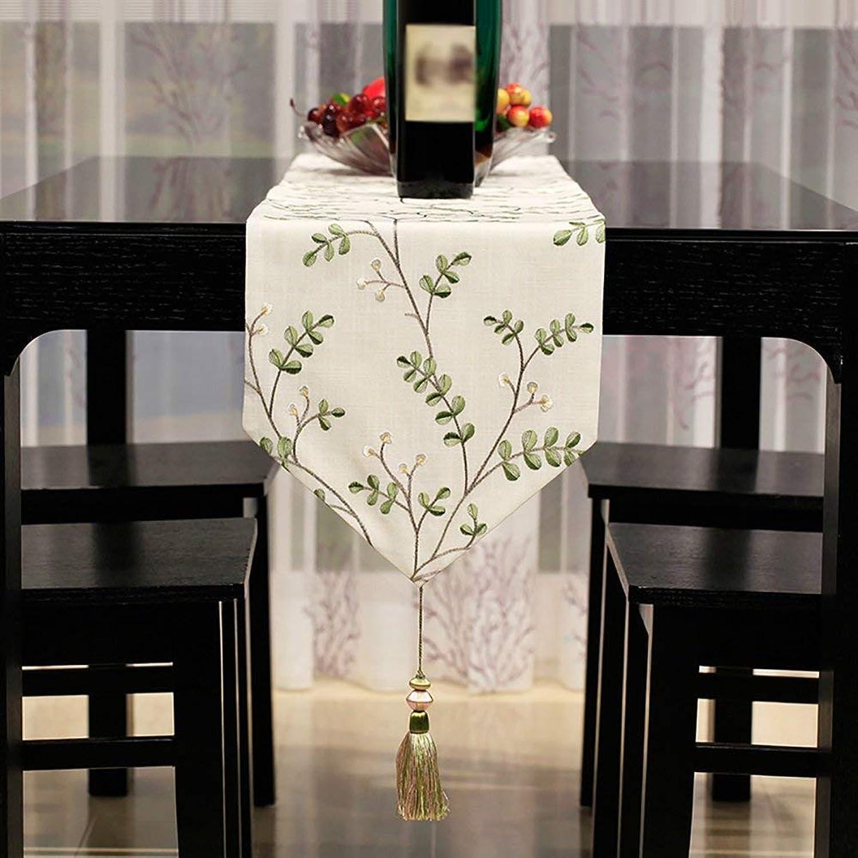 el mejor servicio post-venta SCJS Table Runner Minimalista Moderno Table Runner Mesa Mesa Mesa de Comedor Casa Hotel Mesa de Centro de café Patrón de Bordado (Color  verde, Tamaño  30  160 cm)  Venta al por mayor barato y de alta calidad.