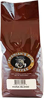 Jeremiah's Pick Coffee Kona Blend, Whole Bean Coffee, 5-Pound Bag