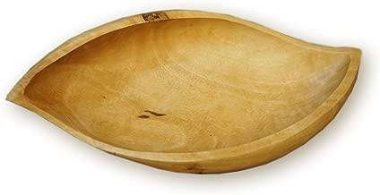 roro Mango Shaped Wood Deep Serving Bowl Dish Made, 14 Inch