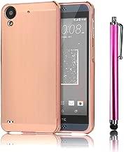 HTC Desire 530 Case, HTC Desire 630 Case, Bonice Premium Luxury Stylish Edge Shockproof Metal Frame + Acrylic PC Back Mirror Case Protector Bumper for HTC Desire 530/630 + Stylus Pen, Rose Gold