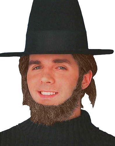 garantía de crédito Beard - Amish Amish Amish marrón (accesorio de disfraz)  venta al por mayor barato