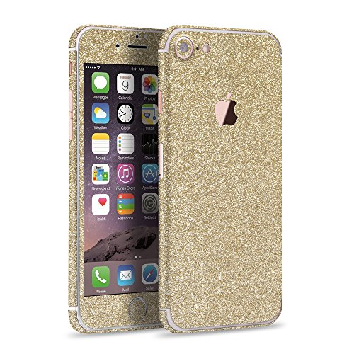 LAMINGO iPhone 8 iPhone 7 Glitzerfolie Skin Diamond Sticker Klebefolie in champagner