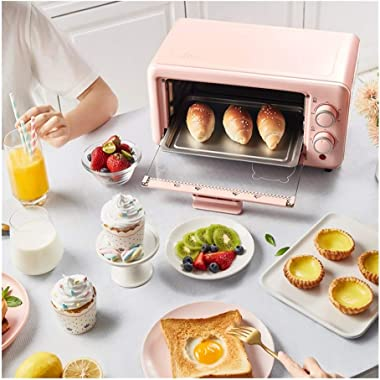 11L Microwave oven Electric stove Multifunction Home automatic machine (Color : Pink, Size : AU plug)