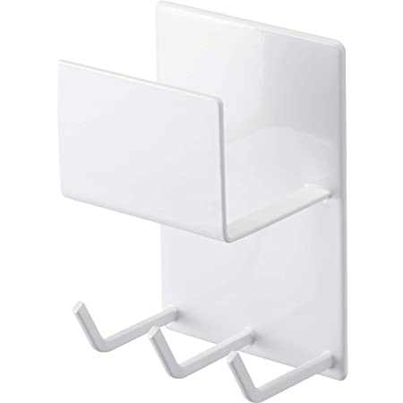 山崎実業(Yamazaki) マグネットバスルームクリーニングツールホルダー ホワイト 約W8XD6XH12cm ミスト 浴室ラック お風呂掃除収納 4978 約8X6X12cm