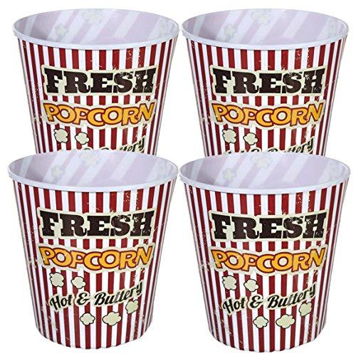 Bada Bing 4er Set XXL Set Popcorn Eimer Box für Kinoabend Kunststoff wiederverwendar 74