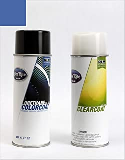 ColorRite Aerosol Automotive Touch-up Paint for Audi A4 - Denim Blue Pearl Clearcoat LZ5W/7C - Color+Clearcoat Package