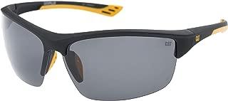 Men's Thermo 104P Polarized Wrap Sunglasses, Matte Black,...