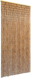 comprar comparacion vidaXL Cortina Puerta Elegante Bambú Marrón 90x200 cm Estor Flecos de Entrada