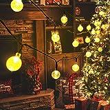 Hezbjiti 40 luces LED solares de 7.5m, luces solares de hadas de cristal de bola de cristal para interior/Navidad/Halloween/hogar/boda/fiesta/jardín/cenador