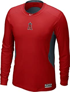 Nike Los Angeles Angels Anaheim MLB Hypercool DriFit AC Fitted Shirt Long Sleeve