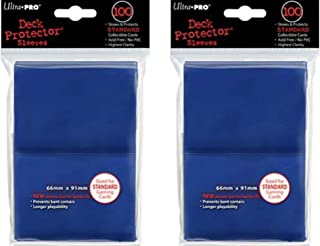 200 Ultra-Pro Blue Deck Protector Sleeves 2-Packs - Standard Magic the Gathering Size