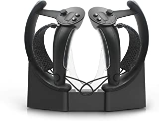 AMVR Touch Controllers Storage and Charging Station, VR Headset Wall Mount Stand for Valve Index, Two Functions Both Hold ...