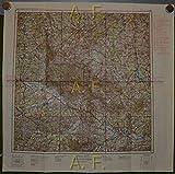 Vogels Karte von Mitteleuropa (Fliegerkarte). M 33-SW Passau, 1 : 500.000 (ca. 55 x 55,5 cm) Justus Perthes Karte Überdruck durch OKH.