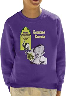 Hammer Horror Films Countess Dracula Blood Poster Kid's Sweatshirt