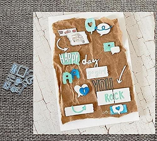 HAS Mountain - Design Craft Metal Cutting Mold Don't miss the campaign Boston Mall Dies Mini Stencil