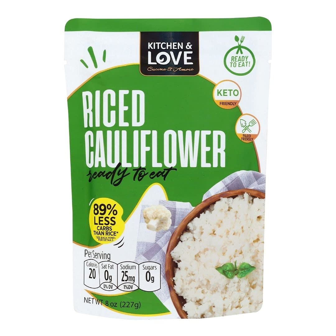 Kitchen Lowest price challenge 70% OFF Outlet Love Riced Cauliflower 6 Ready-to-Eat Pack Pouch 8oz
