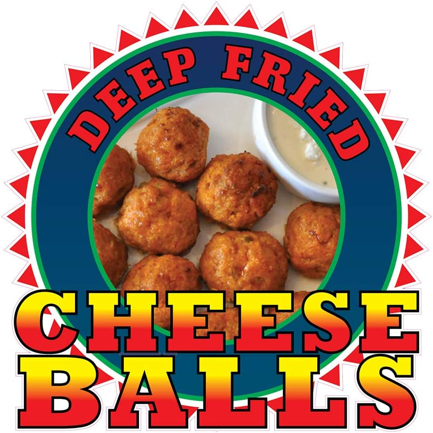 Food Truck Decals Deep Save money Fried Balls Cheese Concession trend rank Restaurant