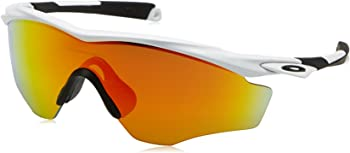 Oakley Men's OO9343 Mirrored White Fire Iridium Wrap Sunglasses