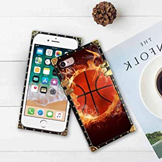 SOKAD Basketball Wallpaper Square Cell Phone Case Fit Apple iPhone 7 (2016)/iPhone 8 (2017) 4.7-Inch
