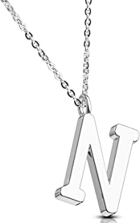 Necklace Initial Letter Pendant Her Name A-Z Women Girl Personalized Charm Gift Jewelry