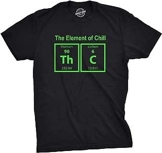 Mens The Element of Chill Tshirt Funny Science THC Marijuana Tee