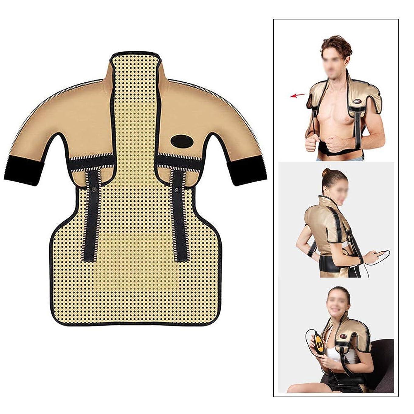 大いにアッティカス無し肩と首の電気加熱パッド - 混練加熱、痛みを和らげるヒートパッド、医療用品マッサージベスト(肩幅用:35-50CM)