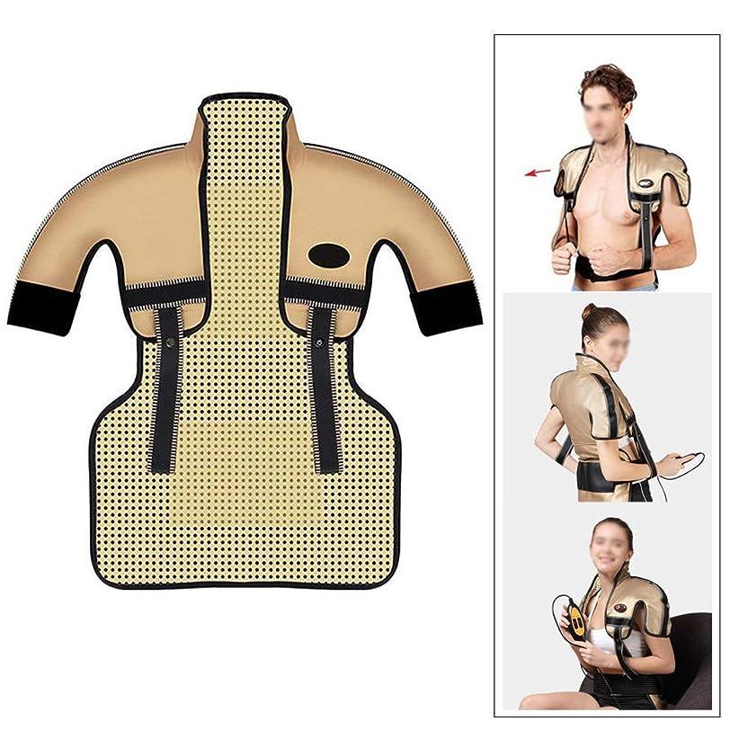 パキスタン人パトワ杖肩と首の電気加熱パッド - 混練加熱、痛みを和らげるヒートパッド、医療用品マッサージベスト(肩幅用:35-50CM)