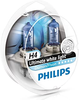 Philips Diamond Vision H4 Upgrade Car Headlight Bulbs 5000K 12342DVS2 (Pair)