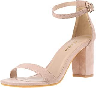Nude Black Silver Gold Heels for Women Open Toe Ankle...