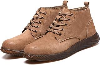 feelingood Leather Work Boots Breathable Soft Sole Anti-Smashing Anti-Puncture Work Shoes