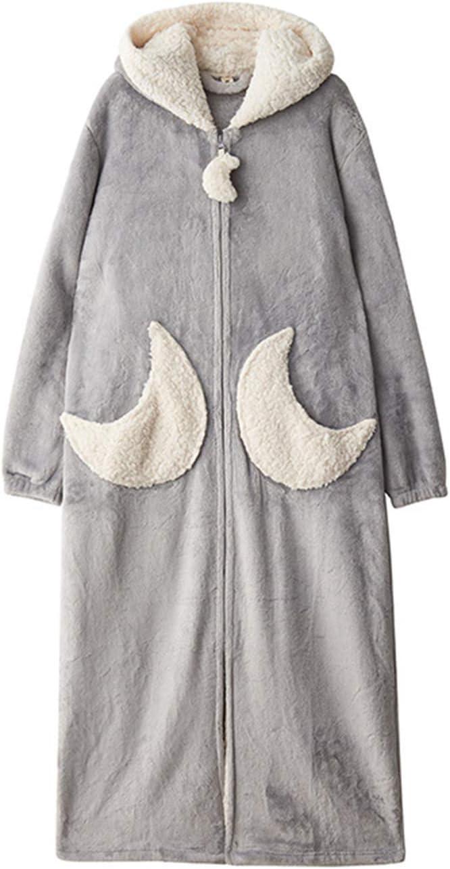 Ladies Soft New York Mall Luxury Hooded Polar List price Fleece Pajamas Lengt Full