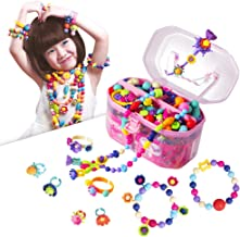 Pop Beads, Jewelry Making Kit - Arts and Crafts for Girls Age 3, 4, 5, 6, 7 Year Old Kids Toys - Hairband Necklace Bracelet and Ring Creativity DIY Set   Ideal Christmas Birthday Gifts (520 PCS)