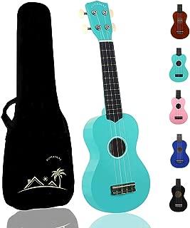 POMAIKAI Soprano Wood Ukulele Rainbow Starter Uke Hawaii kids Guitar 21 Inch with Gig Bag..
