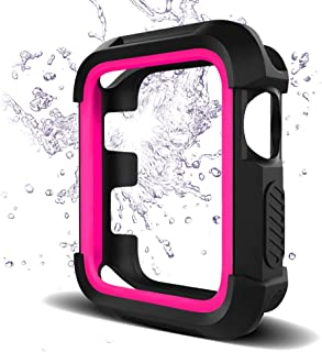 Bellamei Compatible Apple Watch Case 38mm 42mm Shock-Proof Shatter-Resistant Protective Case Soft Silicone for Series3/2/1 Nike+ Sport Edition