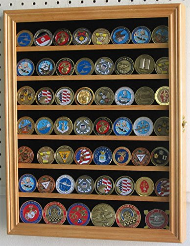 Oak Poker Chip Antique Bullion Coin Display Case With Glass Door Solid Wood
