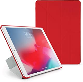 Pipetto Origami iPad Case Air 10.5 inch (2019) & Pro 10.5 inch (2017) with 5 in 1 Stand & auto Sleep/Wake Function Red