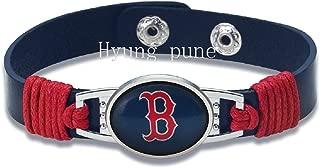 Swamp Fox New Premium Leather Boston Red Sox Unisex Men's Womens Bracelet