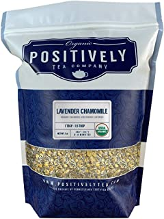 Positively Tea Company, Organic Lavender Chamomile, Herbal Tea, Loose Leaf, 16 oz. Bag