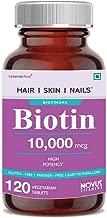 Carbamide Forte High Potency Biotin 10000mcg Maximum Strength for Hair Growth – 120 Veg Tablets