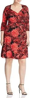 Leota Womens Plus Floral Cocktail Wrap Dress