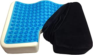 Kieba Coccyx Seat Cushion, Cool Gel Memory Foam Large Orthopedic Tailbone Pillow for..