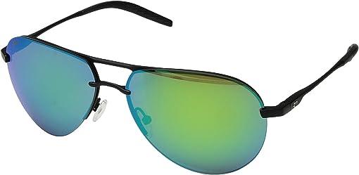 Matte Black/Matte Black/Black/Green Mirror 580P