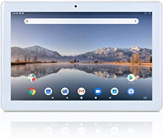 10.1 inch Tablet Android 9.0 Pie Google GMS Certified Quad Core 2GB RAM 32GB ROM IPS Screen YELLYOUTH 10 in Tablets with GPS Bluetooth WiFi and Dual Camera - Silver